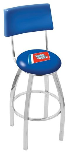 Use this Exclusive coupon code: PINFIVE to receive an additional 5% off the US Coast Guard Bar Stool w/Back at SportsFansPlus.com