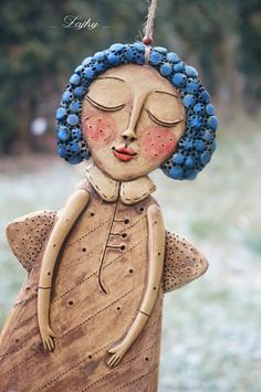 Ceramic Angels, Air Dry Clay, Clay Art, Ceramic Art, Quilling, Art Projects, Polymer Clay, Holiday, Christmas
