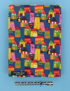 Colorful Houses organic cotton elastane single by Ottobredesign