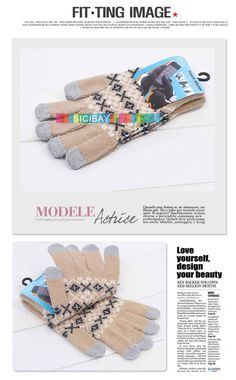 Aliexpress.com : Buy Capacitive Touch Gloves Ladies Pretty Jacquard Design Capacitive Gloves for Iphone,Free Shipping Y0302 from Reliable Capacitive Gloves suppliers on SICIBAY - Kids' Clothing:Selling for Donating