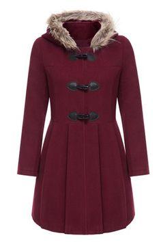 Graceful Hooded Long Sleeve Faux Fur Spliced Women's Hooded Coat Coats | RoseGal.com Mobile