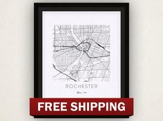 Rochester Map Print