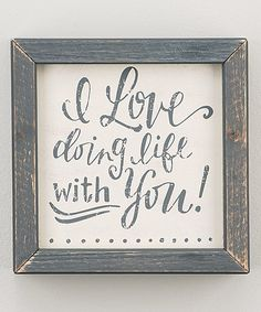 Doing Life With You Framed Board | zulily