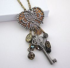 Vintage Assemblage Charm Necklace - JryenDesigns.etsy.com
