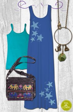 Accessorize your maxi! #soulflowerbuds #soulflowerclothing