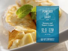 This recipe for Banana and Yogurt Crepes will jump-start your day and your taste buds!