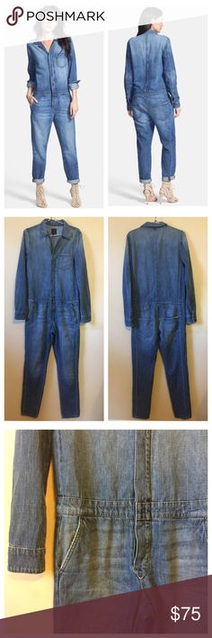 Joes Jeans Denim Riya Relaxed Jumpsuit XS Joes Jeans Denim Riya Relaxed Jumpsuit • XS • 60 inch length • 17 inch waist • 18.5 inch bust • 29.5 inch leg inseam • Good preloved condition, slight wear inner thighs. Otherwise, no wear. • 100% cotton • Slight stretch • Fits true to size, relaxed fit Joe's Jeans Pants Jumpsuits & Rompers