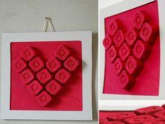 Valentine Heart Picture - DIY Egg Carton
