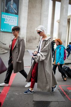 Street style at Paris Fashion Week Spring 2017