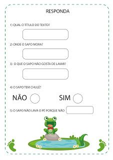 Notebook da Profª: Projeto O Sapo Homeschool, Teaching, Notebook, 1, Montessori, Blog, Teaching Ideas, Sight Word Activities, Kids Learning Activities
