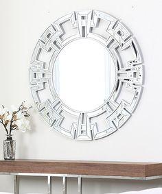 Love this Silver Glamour Round Mirror on #zulily! #zulilyfinds