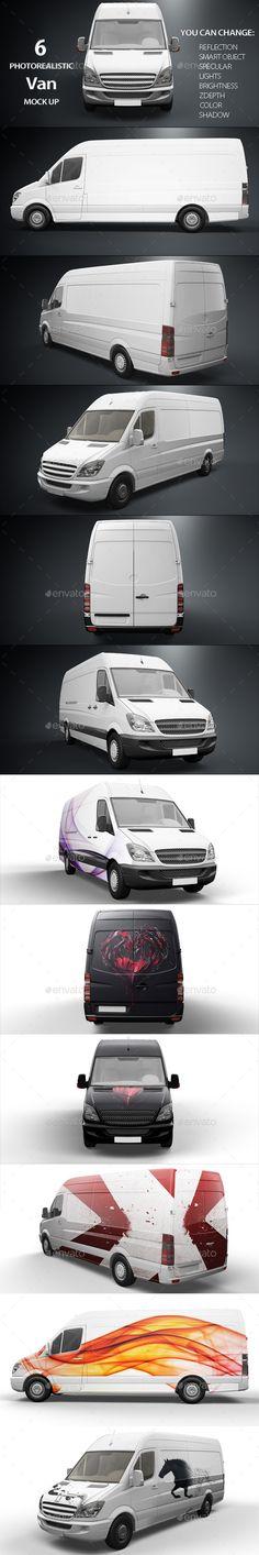 Van Mockup #design Download: http://graphicriver.net/item/van-mockup/11440806?ref=ksioks