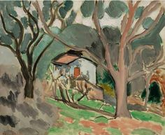 Henri Matisse (1869-1954) La Cabane, paysage du midi 1918 oil on canvas 33.3 x 40.7 cm signed 'Henri.matisse' (lower left)