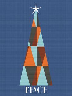 Peace Tree 2012 Holiday Card via Modern Paper Goods #modern_paper_goods #holiday_cards