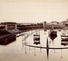 L'Arena Napoleonica allagata per una naumachia svoltasi il 2 agosto 1863.