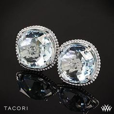 Tacori Island Rains Sky Blue Topaz Stud Earrings