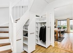 Garderobe under trapp med uttrekkII Understairs Storage Garderobe Med Trapp uttr Understairs Storage Garderobe Med storage Trapp Understairs uttr uttrekkII Staircase Storage, Stair Storage, House Extension Plans, Flur Design, Cottage Renovation, House Stairs, Attic Spaces, House Extensions, Under Stairs