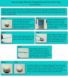 Remove lint from white clay. Fun Tip Friday #18 by *SmallCreationsByMel on deviantART.  Wish I had seen this last night!
