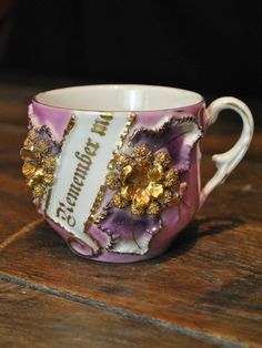 "Vintage ""Remember Me"" Shaving Mug"