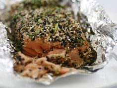 Ginger and Sesame Seeds Coated Wild Salmon