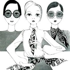 Fashion illustration, Marie Claire (France) 1968