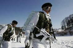 south korean special forces | South Korean special warfare forces participate during winter mountain ...