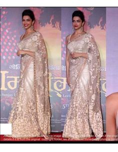Net Saree, Deepika Padukone, Sarees, India, Best Deals, Brown, Fashion, Moda, Indie