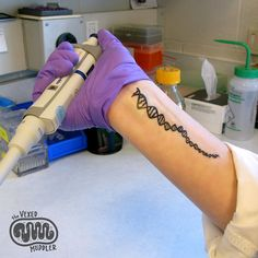 DNA temporary tattoo - fun and geeky science lab fashion