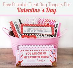 Free Printable Treat Bag Toppers For Valentine's Day at Love From The Oven