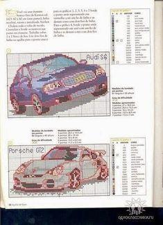 Schemi gratis da realizzare a Filet Punto Croce Maglia Uncinetto e Ricamo Audi S6, Chart Design, Hobby, Cars, Graph Design