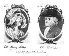 Town and Country Magazine, October 1789.  The Young Milliner and the Old Seducer…