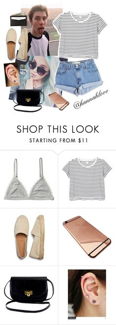 """""""Calfreezy"""" by hannahmpearson ❤ liked on Polyvore featuring Monki, Levi's and Pinkrocket"""