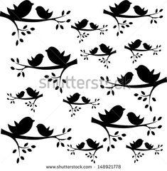 Výsledok vyhľadávania obrázkov pre dopyt bird on branch silhouette