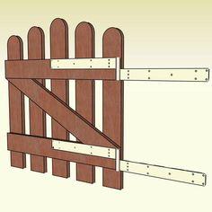 Gartentür bauen: Super Anleitung, Schritt für Schritt erklärt und leicht nachzumachen.