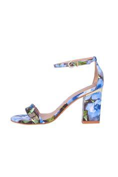 Vendita Roberto Botella / 25641 / Sandali / Tacco fra 5 e 8 cm / Sandali con Tacco Effetto Verniciato - Blu