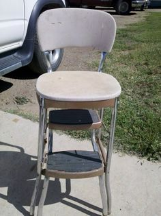 The Uncluttered Lifestyle: Vintage Stool Upcycle