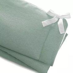 Willow Linen Crib Rail Cover   Liz and Roo Mint Green Nursery, Crib Rail Cover, Willow Green, Crib Skirts, Convertible Crib, Nursery Design, Changing Pad, White Fabrics, Custom Items