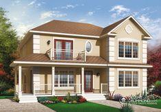 Plan modèle jumelé (Duplex) 2 étage