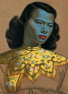 'Chinese Girl' - Vladimir Tretchikoff's original Chinese Girl/Green Lady picture