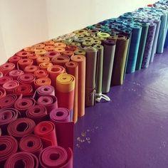 Yoga mats! Colorful!