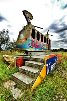 abandoned helicopter ride - Funpark Fyn, Denmark