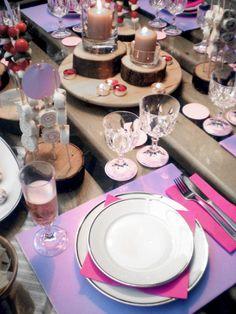 Cenetta Pink: DIY alzate in legno per candele e stuzzichini