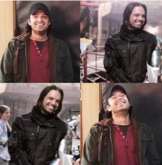 This is so strange because smiling looks so out of character for the winter soldier ~