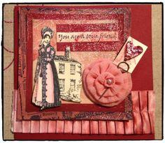 Jane Austen inspired stamped card