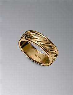 GOLD David Yurman Ring Amazing RingPersonal ShoppingWedding Band RingsRing RingDavid YurmanCustomer ServiceMens JewelryJewelry DesignCable