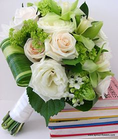 green luscious and contemporary wedding flower bouquet, bridal bouquet, wedding flowers, add pic source on comment and we will update it. www.myfloweraffair.com can create this beautiful wedding flower look.