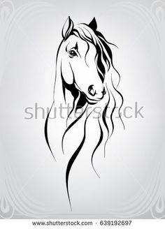 Vector silhouette of a horse's head - steph - - Vector silhouette of a horse's head Vector silhouette of a horse& head Horse Head Drawing, Horse Drawings, Animal Drawings, Drawing Art, Horse Tattoo Design, Horse Tattoos, Tribal Horse Tattoo, Arte Equina, Horse Stencil