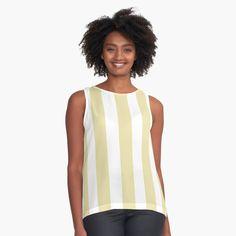 'Gold pastel pattern' Sleeveless Top by GloriannaCenter Pastel Pattern, Stripe Pattern, Pattern Design, Tank Top Shirt, Tank Tops, Streetwear Fashion, Chiffon Tops, Sleeveless Tops, Cool Style