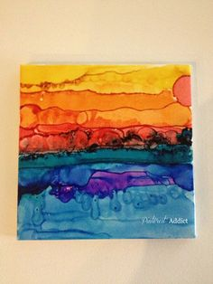 alcohol ink coasters...gorgeous