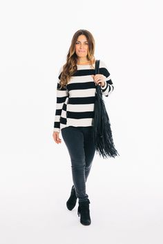 Stripes and fringe..